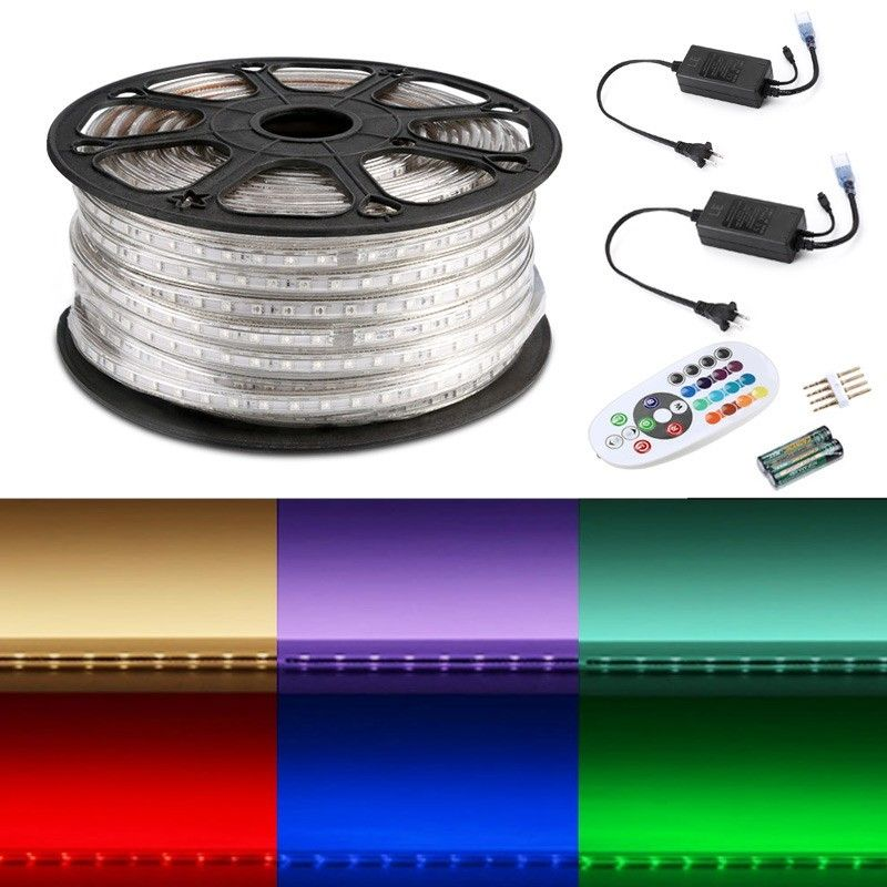 110v 5050 Rgb Led Strip Light Color Changing Led Tape Lighting Led Tape Lighting Flexible Led Strip Lights Led Rope Lights