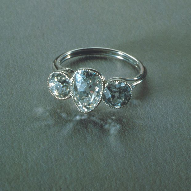 This was actually recovered from the Titanic wreck... I loooove it. It's such an elegant engagement ring.