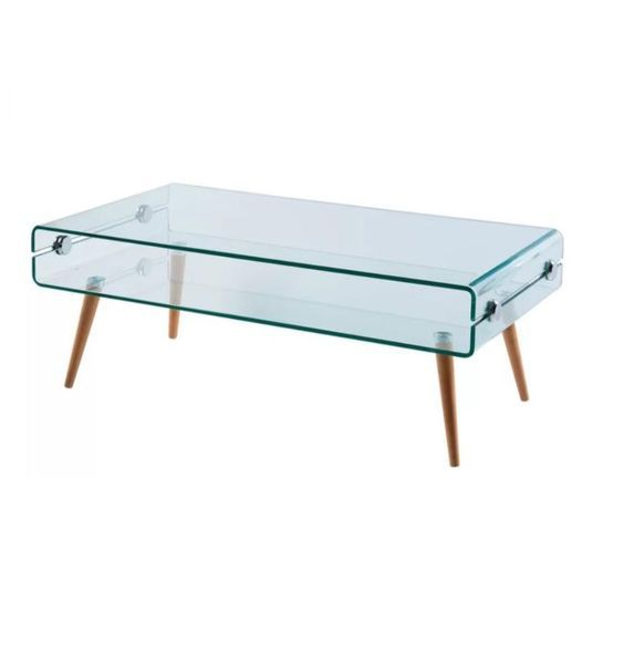 Modern Bent Glass Coffee Table $199.99 CDN No Duties, No Extra Charges. Buy  Online