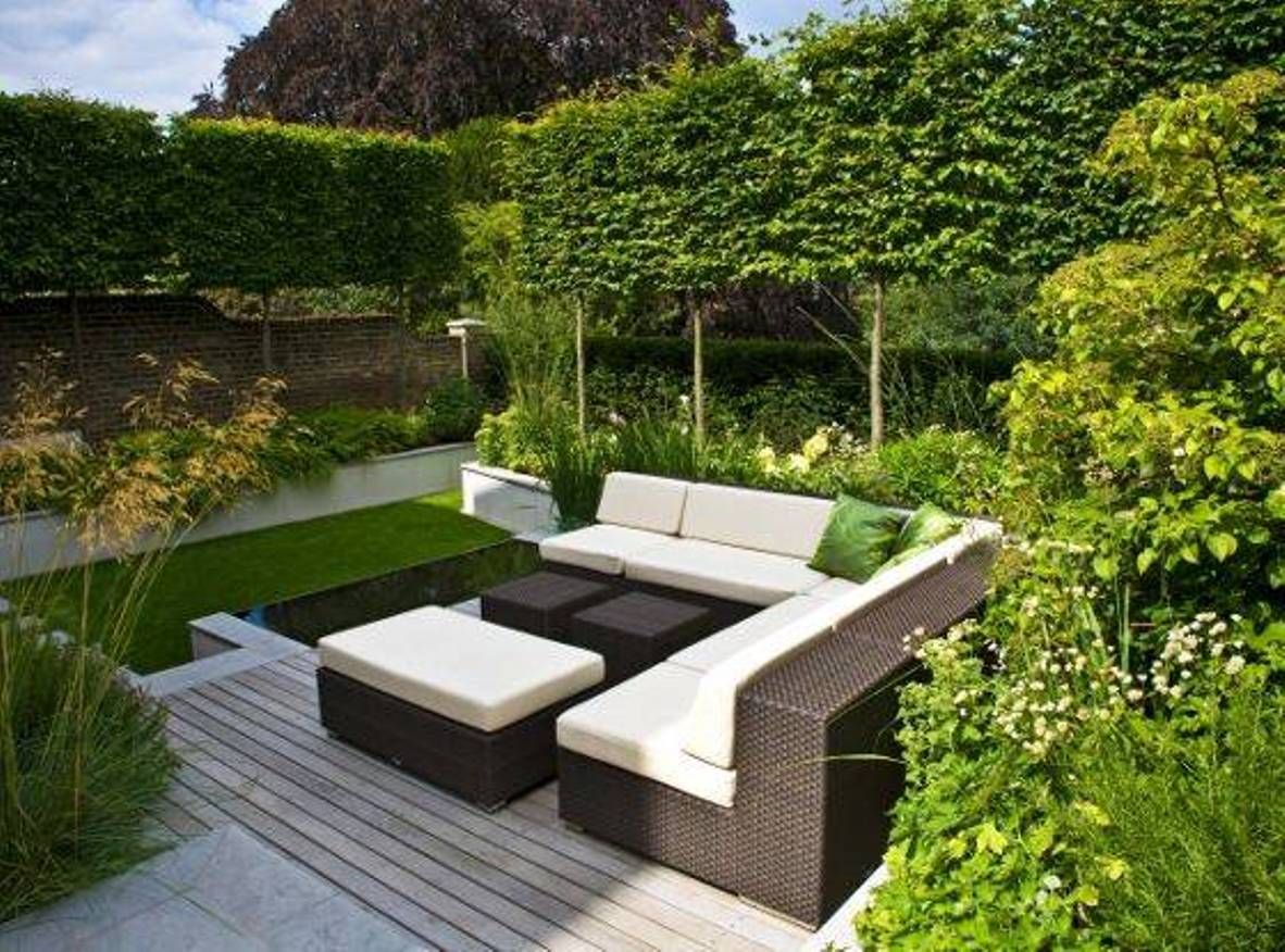 Home Design And Decor Modern Garden Ideas For Small Spaces With Outdoor Furniture