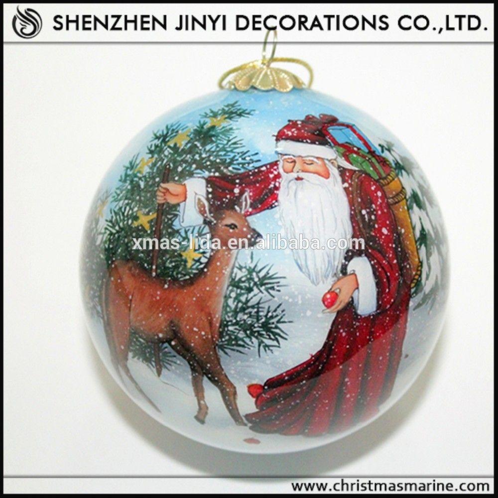 Custom christmas ball ornaments - Hand Painted Glass Christma Ball Ornaments Buy Hand Painted Glass Christma Ball Ornaments Glass Personalized Christmas Ball Ornaments Hand Blown Glass