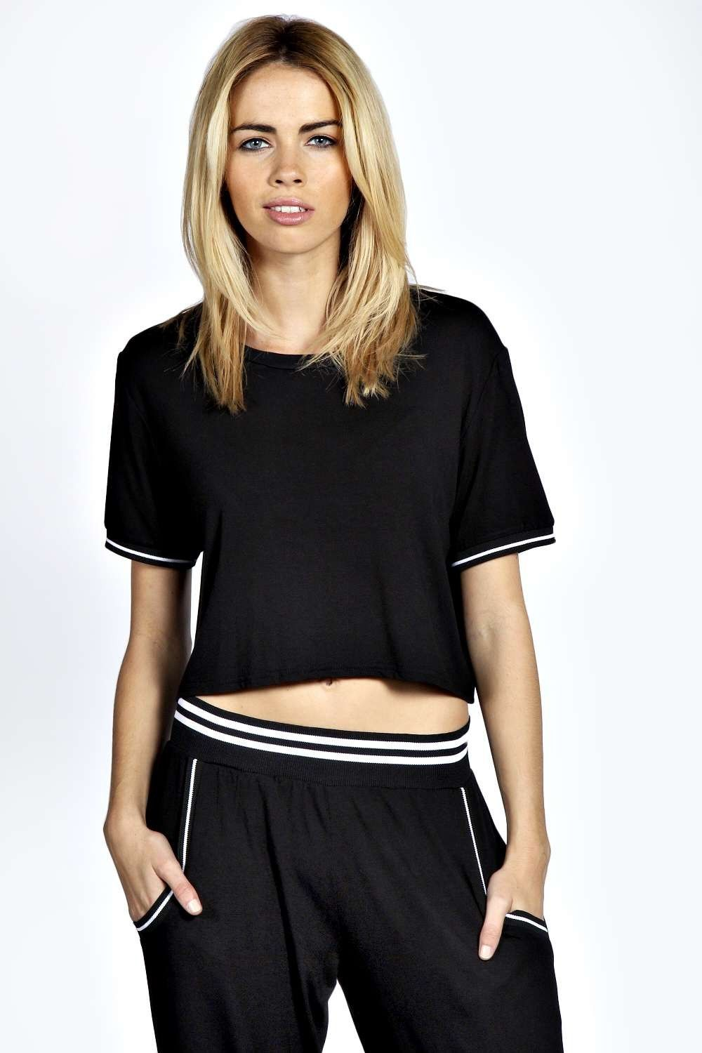 Molly Crop T Shirt With Sporty Cuff - 11€