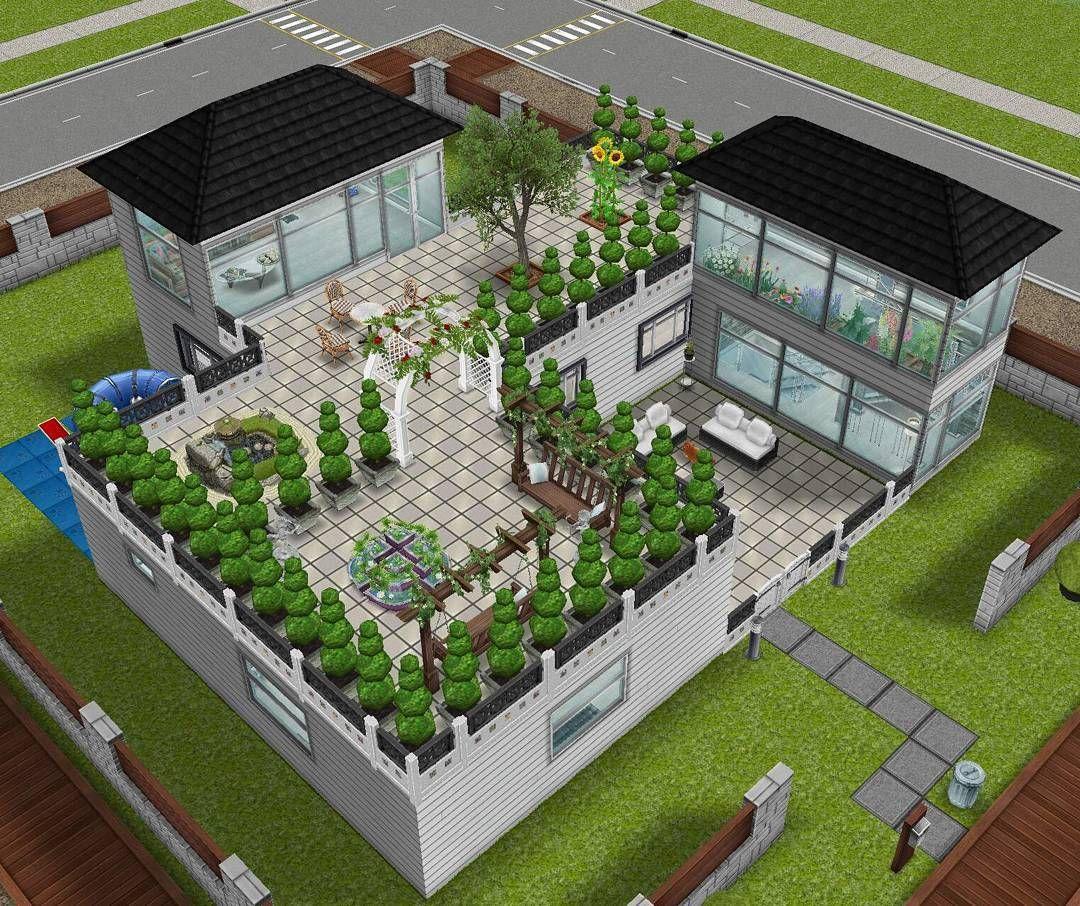 House design garden - Sims Freeplay House Design Garden Terrace