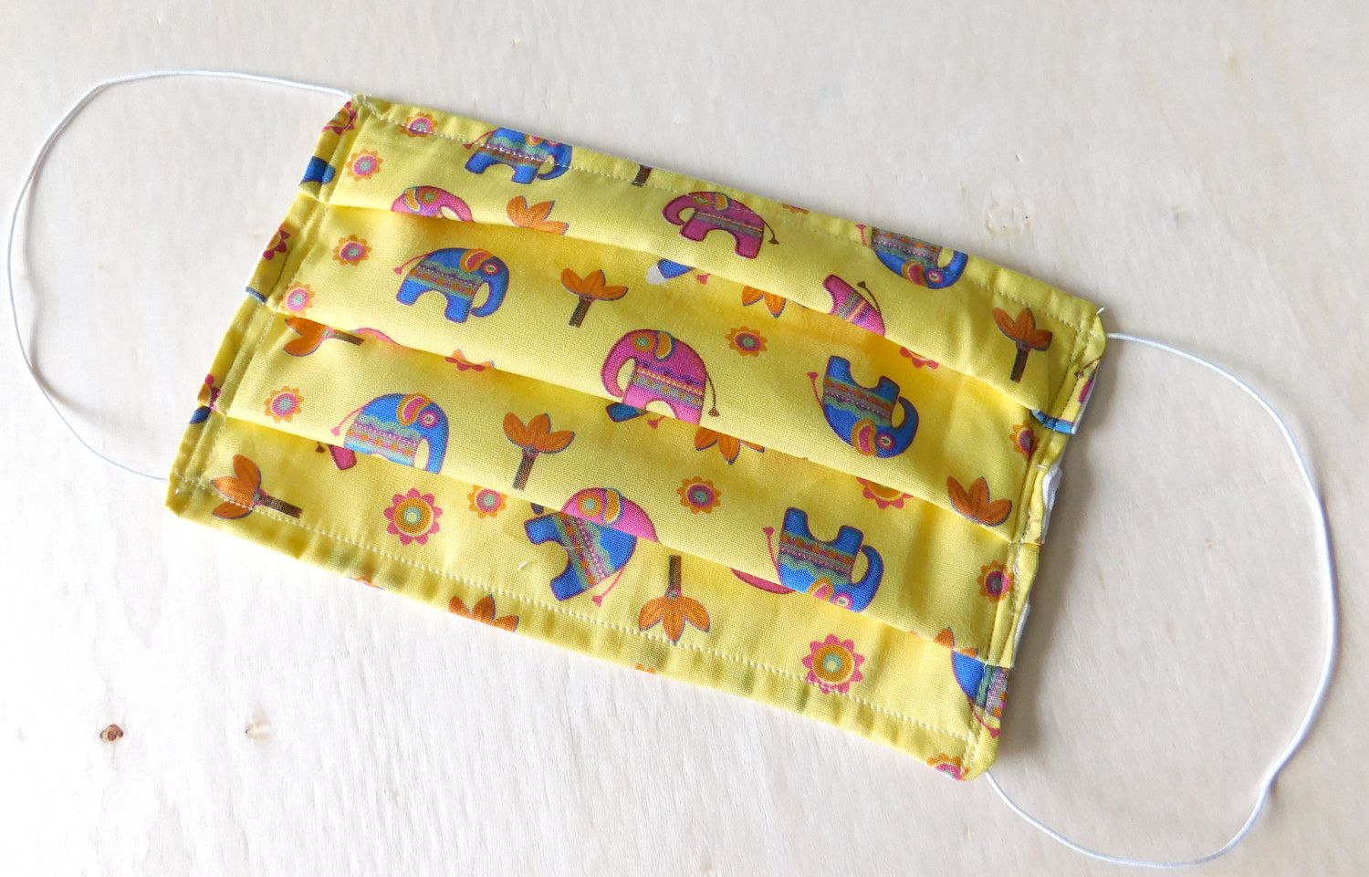 Elephant Pattern Reusable Washable Face Mask with Filter