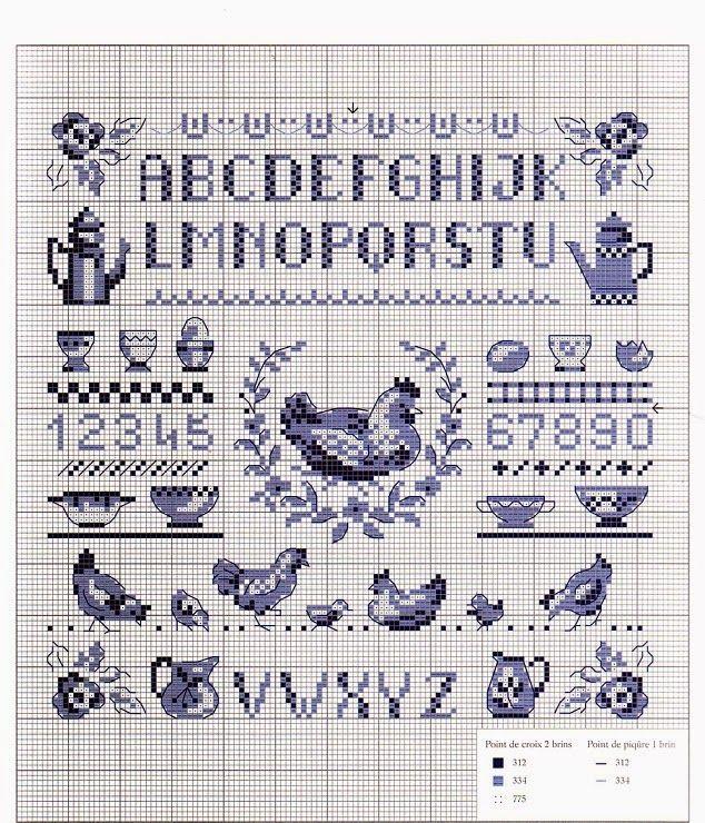 Bleu alphabet