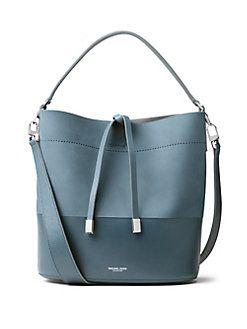 13a111cadad9 Michael Kors Collection - Miranda Medium Leather Bucket Bag