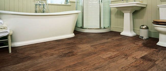 we are loving the effect this gorgeous vinyl flooring has