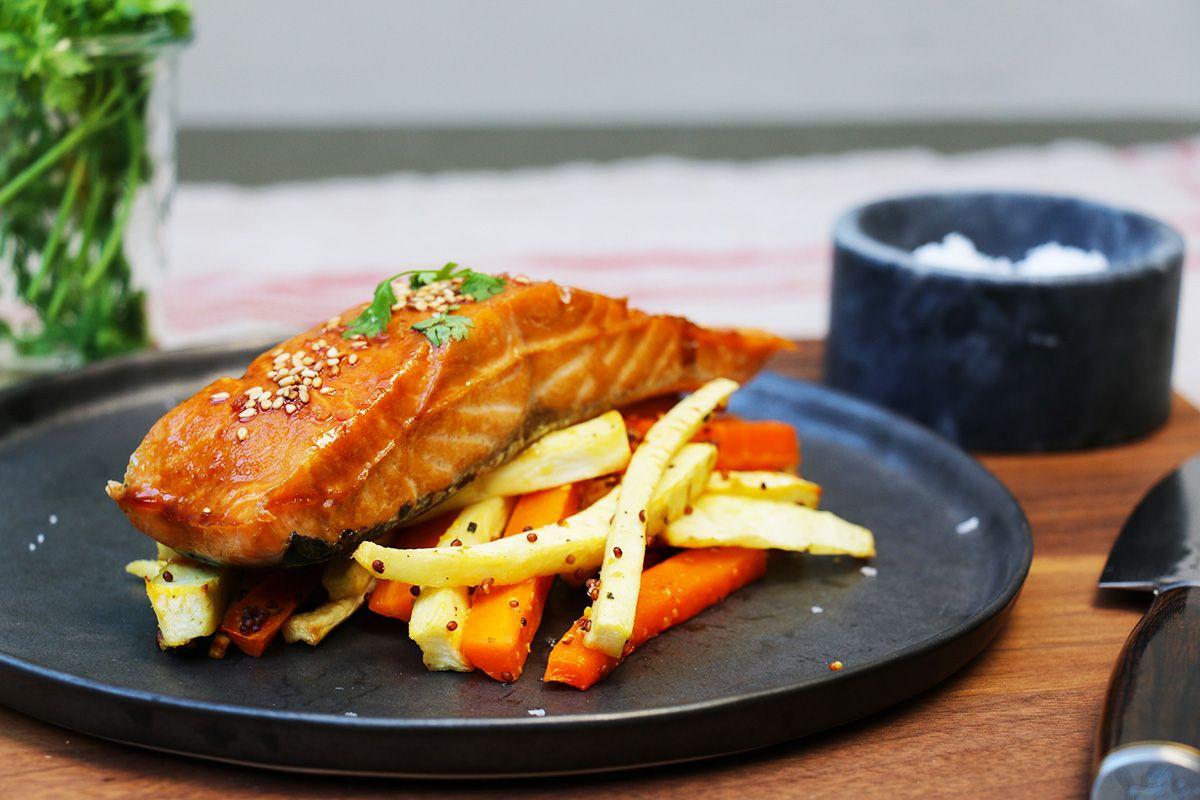 Recette de saumon facile laqu au miel via hervecuisine poissons - Plat cuisine sous vide ...