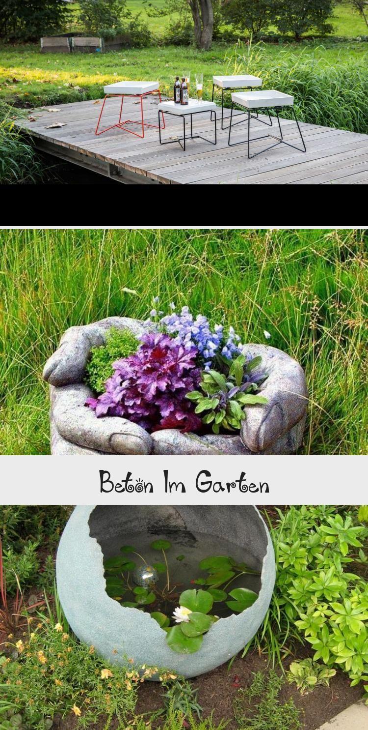 Kugel Aus Beton Mit Teich Fur Den Garten Gartenideensteine Gartenideenblumenbeet Gartenideenlandhausstil Gartenideensitzecke Bird Bath Decor Outdoor Decor