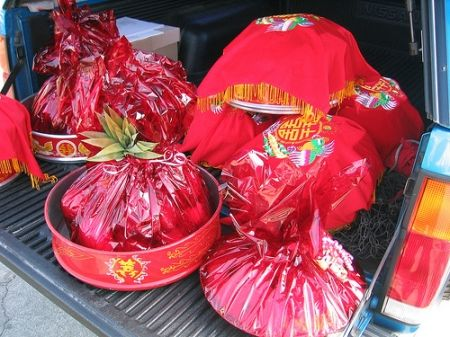 Traditional Vietnamese Wedding Gift To The Bride Family