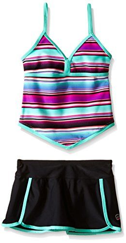 725c7e391b Free Country Big Girls Umbrella Stripe Apron Tankini MultiSeafoamHot Pink 7  ** Check out the image by visiting the link.
