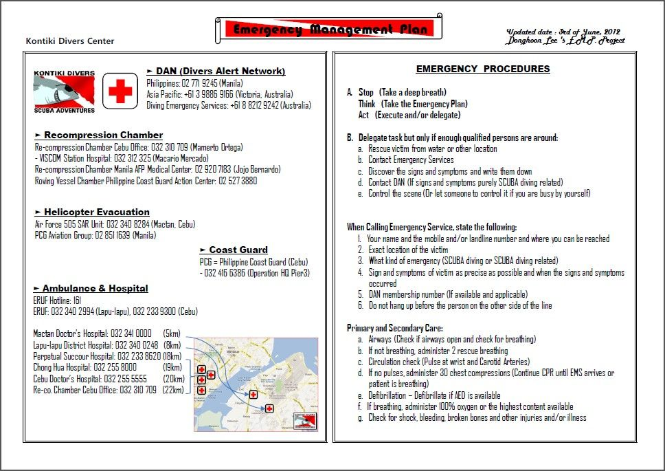 Related image   Aqua Divers   Emergency action plans, Diving