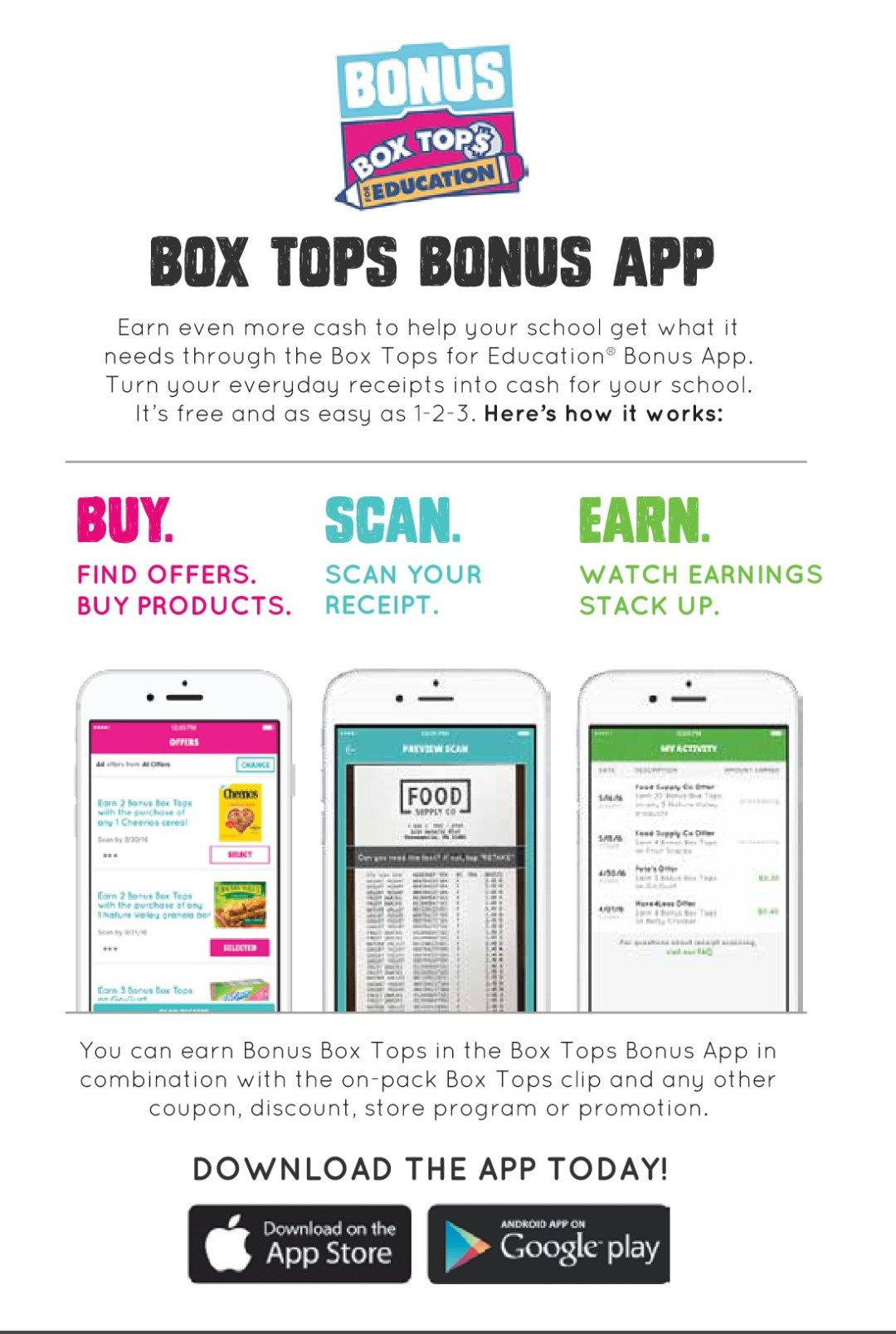 Use the Box Tops App to Get Back to School Ready! BoxTops