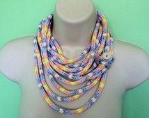 knit art necklaces - Google Search