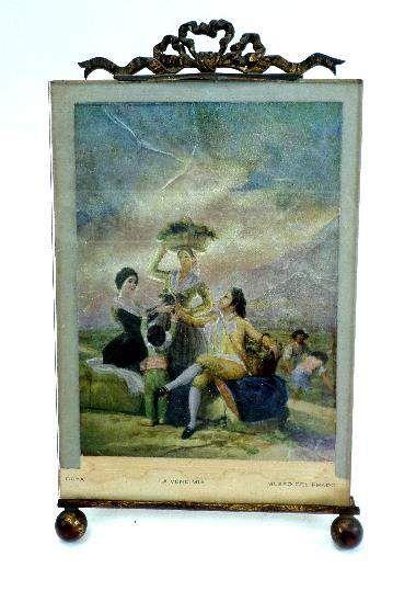 shopgoodwill.com: Art Nouveau Easel Back Frame w/Goya Foil Art
