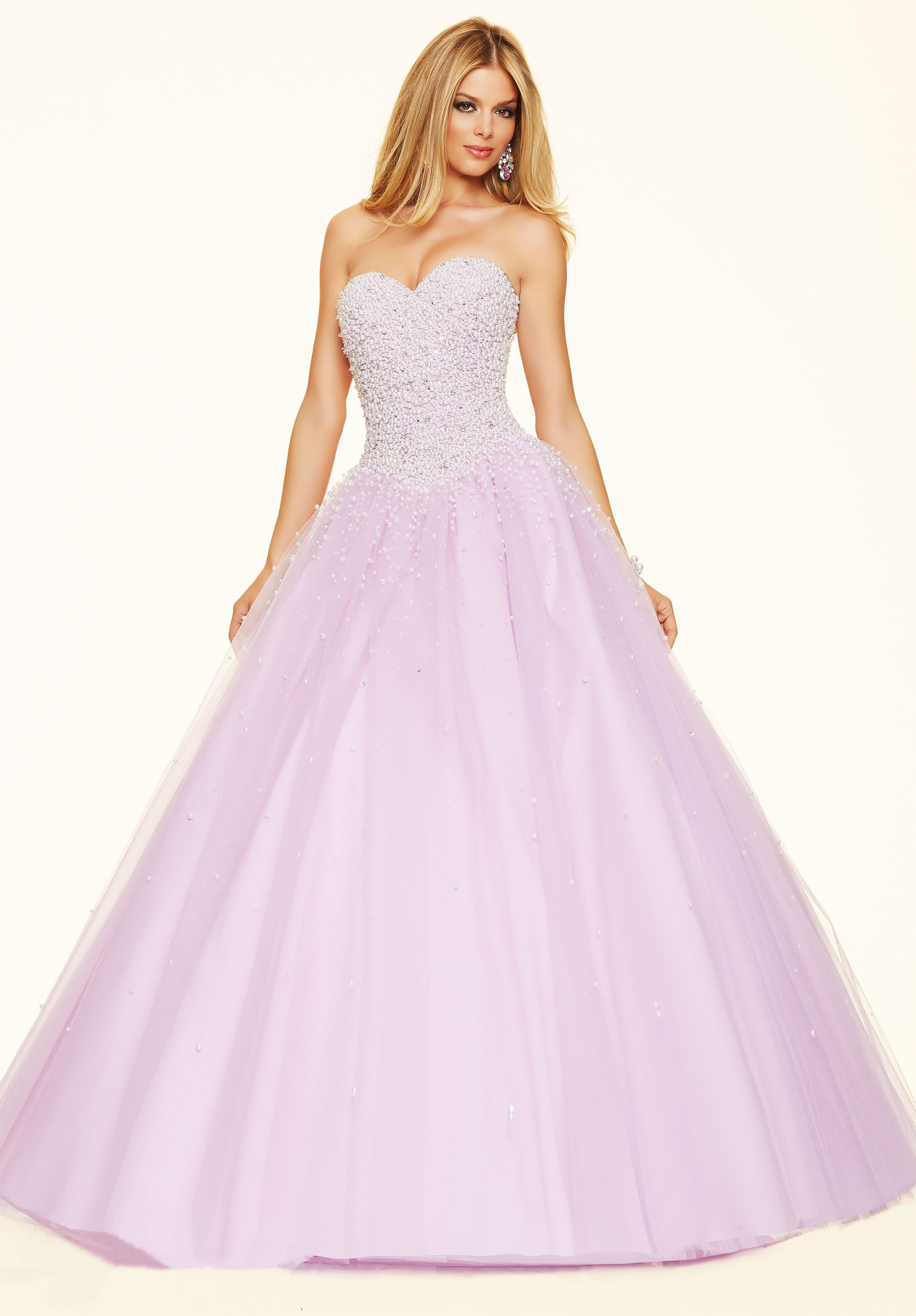 Lilac Sweetheart Tulle Ball Gown Prom Dress Cpa0184 | prom dresses ...