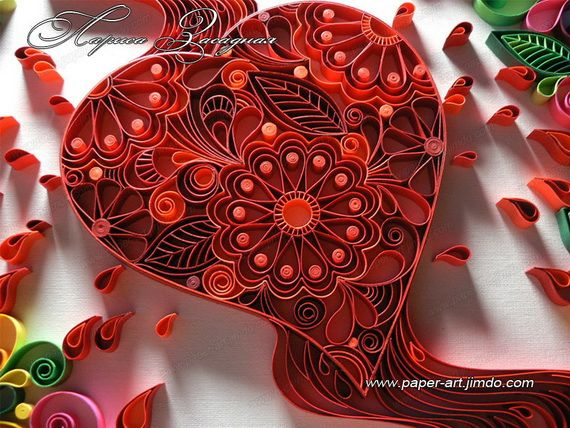 Quilled Valentines Day Craft Projects and Ideas  Quilling