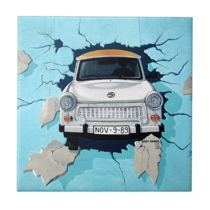 Car graffiti tile
