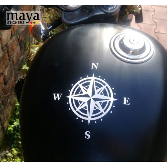 Compass Decal Stickers For Re Bikes Cars And Laptops Bike
