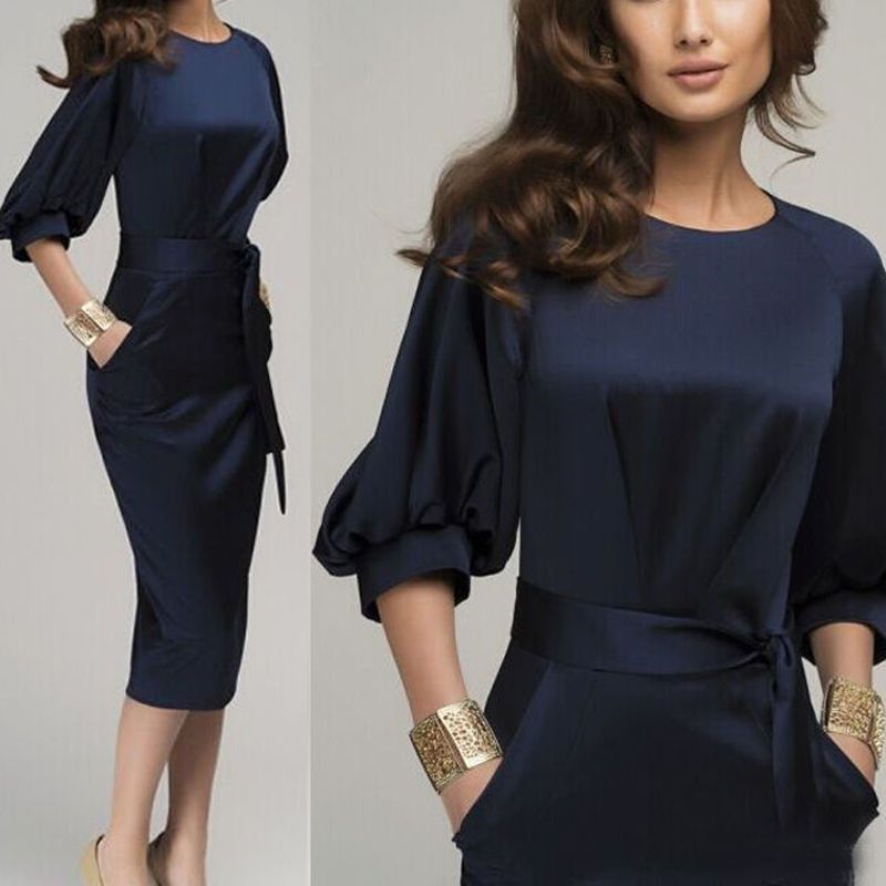 b3adbf2df15 Elegant Womens Office Lady Formal Business Work Party Sheath Tunic Pencil  Dress