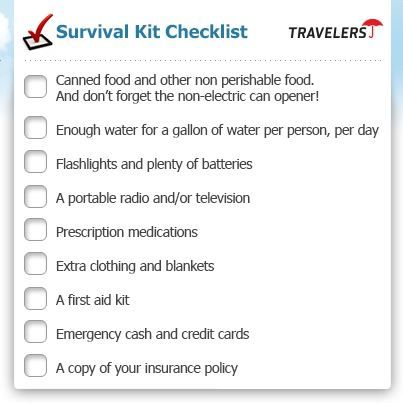Survival Kit Checklist Incaseofemergency Wateridge Insurance