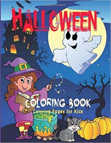 Halloween Coloring Book Amazonca Pages For Kids Books