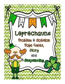 This three is one pack is a fun way to celebrate St. Patrick's Day while focusing on reading comprehension skills. This pack features a short story about mischievous leprechauns, 44 problem and solution poke cards with answer sheets for students and a fun sequencing activity with a hidden message!