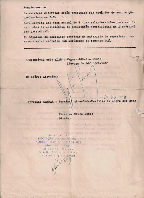 Verso - AUAR - Licença para pousar de helicóptero em Angras dos Reis, litoral do Rio de Janeiro.