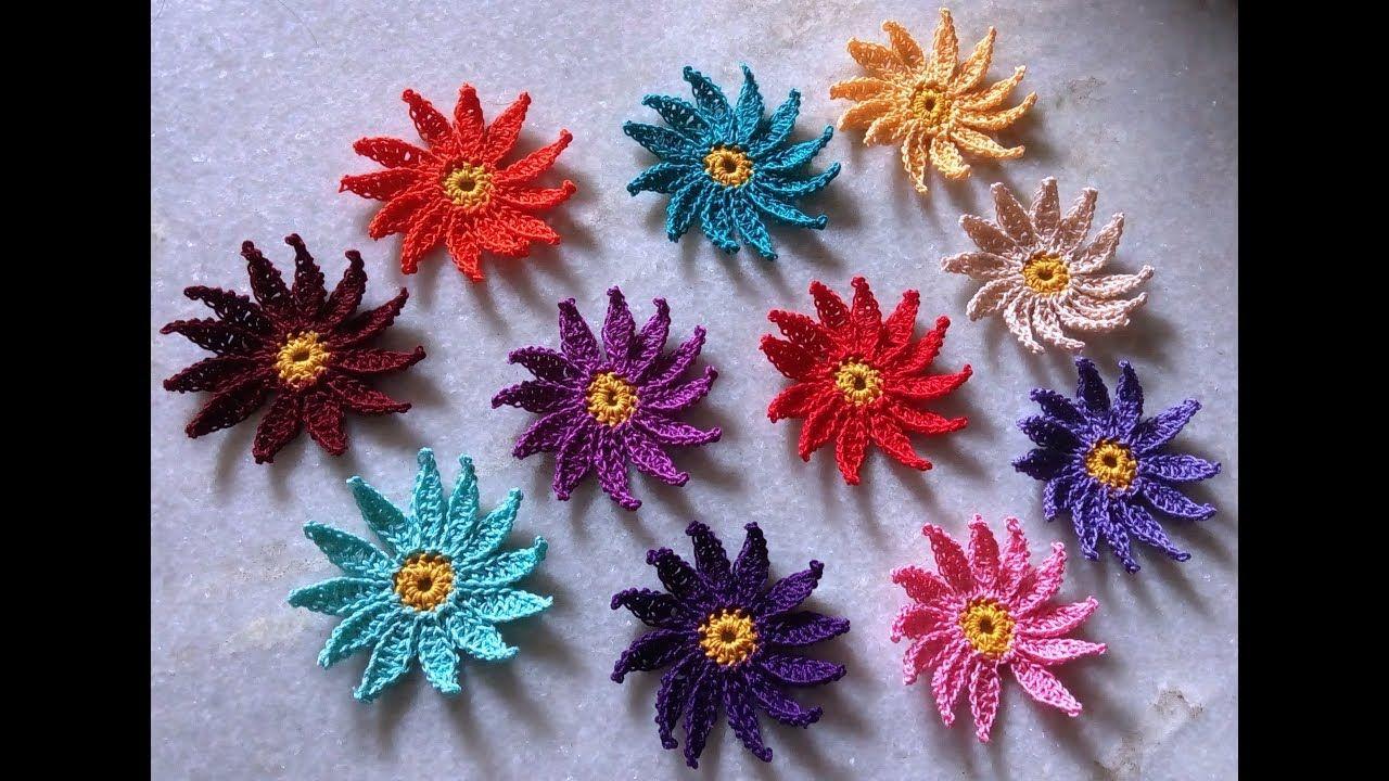 How to crochet point petal daisy flower crochet daisy youtube how to crochet point petal daisy flower crochet daisy youtube izmirmasajfo