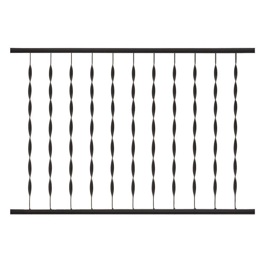 Best Gilpin Assembled 4 Ft X 2 67 Ft Patterson Railing Black 400 x 300