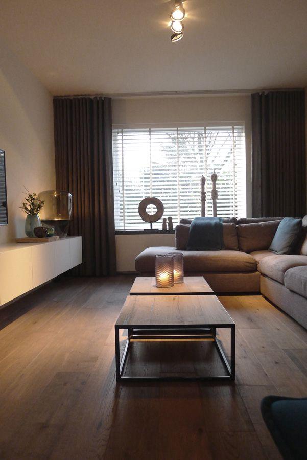 Ontwerp: Indelingsplan, keuken, haard, Sittard - Gordijnen woonkamer ...