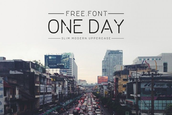 FREE One Day Typeface By TheHungryJPEG