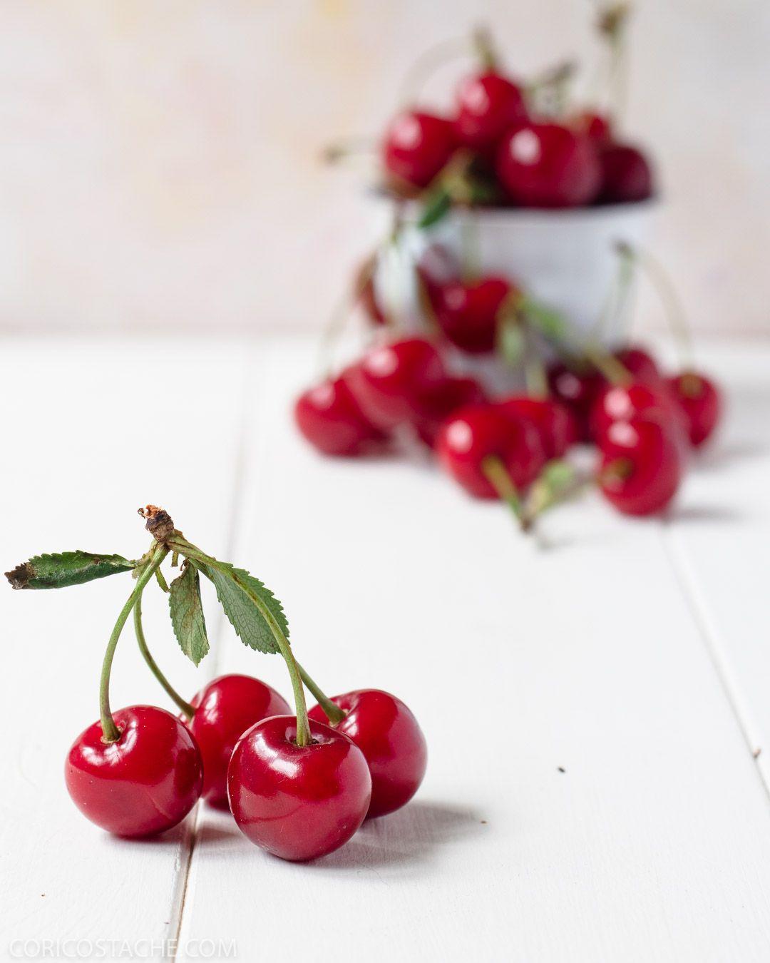 Sour Cherries Photography Spring Fruit Food Photography Honey Dessert