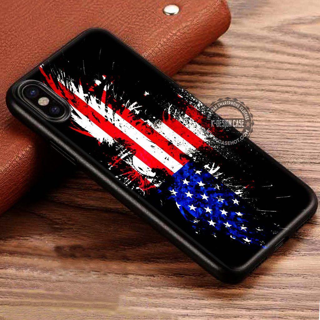 Vintage American Flag Wallpaper iPhone X 8 7 Plus 6s Cases