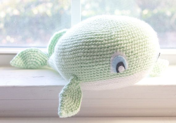 Crochet Whale/ Choose Your Colors/ Custom by TheFadedWildflower
