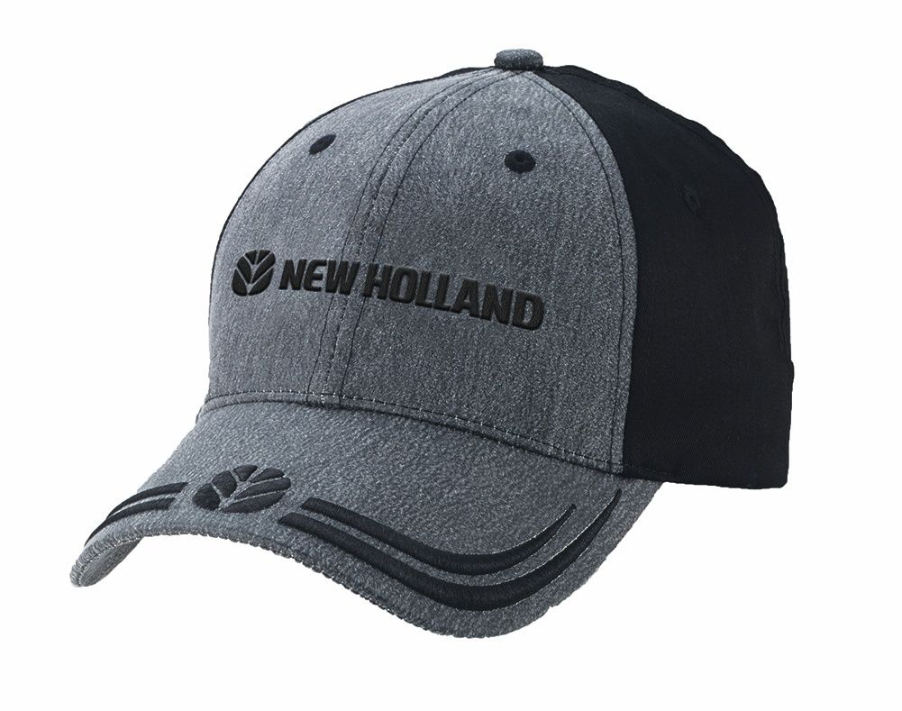 814947a882f8e New Holland Logo Black Charcoal Cap