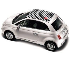 Fiat 500 Chequered Roof Graphic 50901834 Fiat 500 Fiat 500