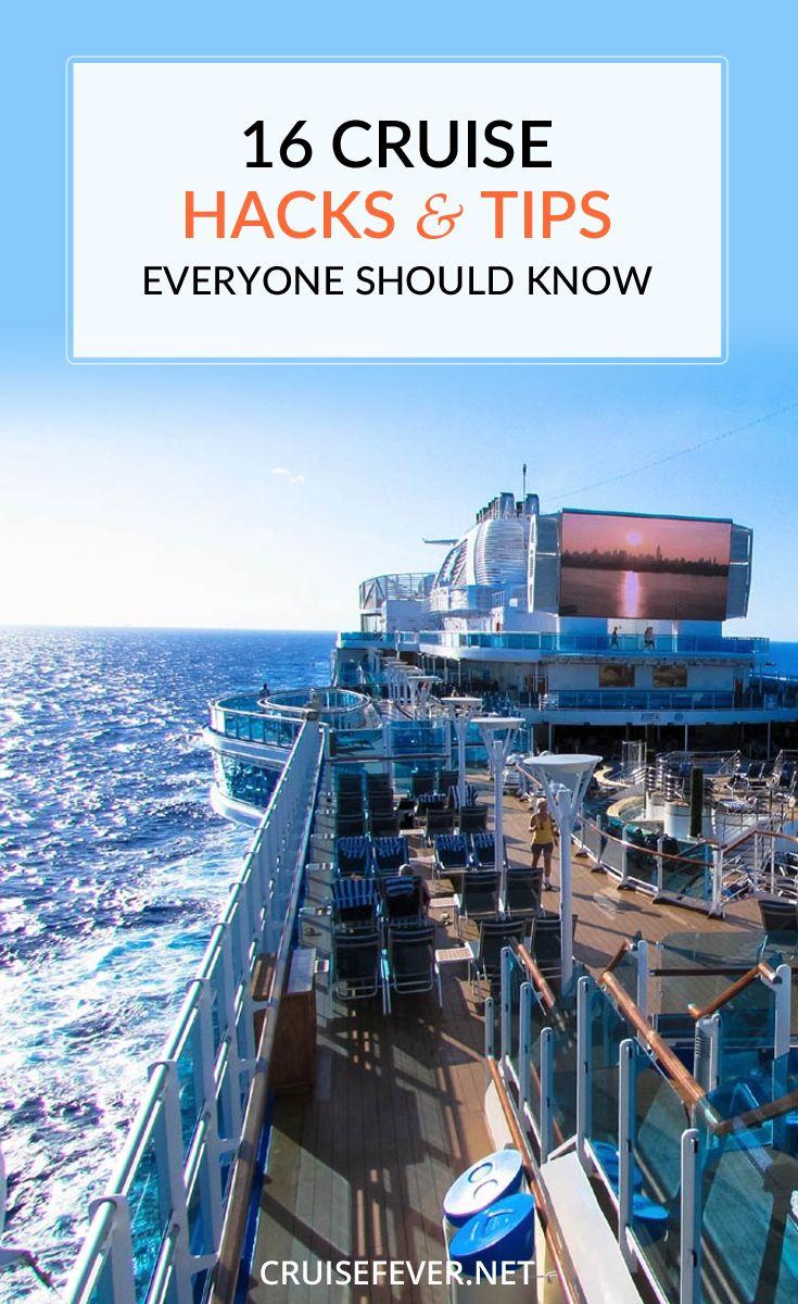 16 Cruise Hacks Tips That Everyone Should Know Cruise Tips Honeymoon Cruise Cruise Travel