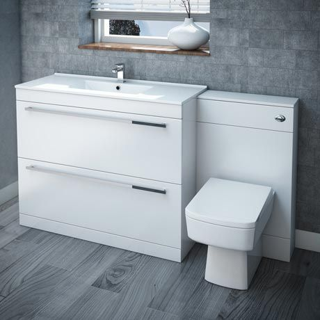 Nova High Gloss White Vanity Bathroom Suite W1500 X D400 200mm At Victorian Plumbing Uk Cheap Bathroom Vanities White Vanity Bathroom Rustic Bathroom Vanities