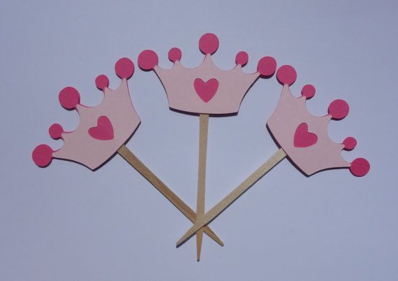 Princess Crown Cupcake Toppers  Princess by AllOverCreations, $8.50