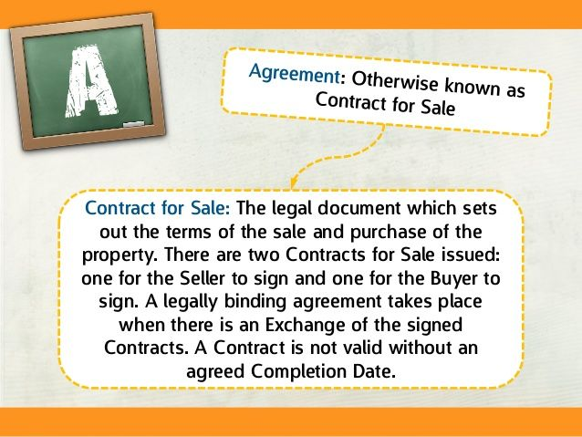 Conveyancing Jargon Buster Agreement And Contract For Sale Home