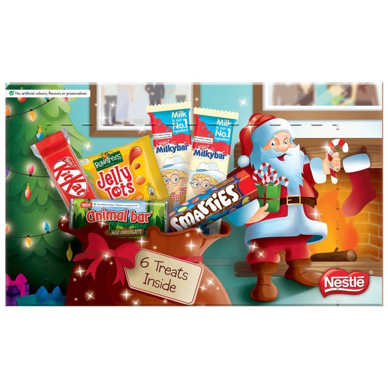 Filled With Six Pieces Of Sugary Goodness Including Five Chocolate Bars There S Enough Here To Stuff Yourself At Christmas B Selection Boxes Jelly Tots B M