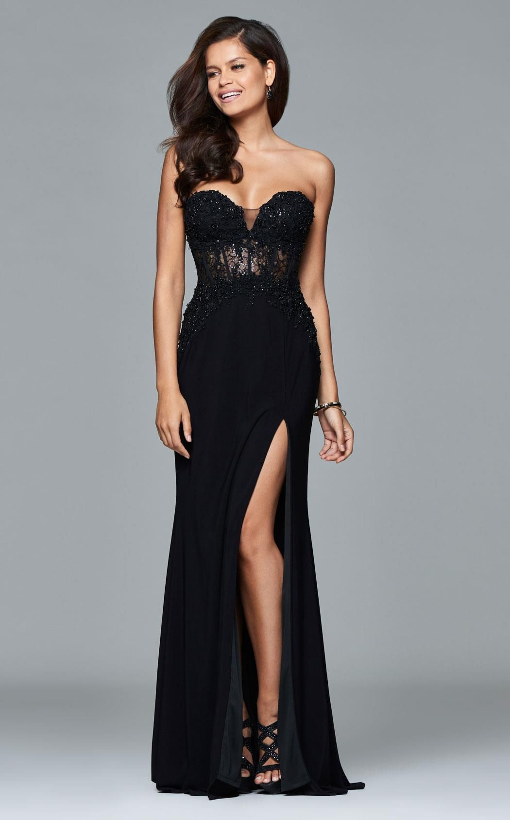 678f16d52211 Faviana S7907 Lace Evening Dresses, Evening Gowns, Lace Dresses, Evening  Party, Sexy