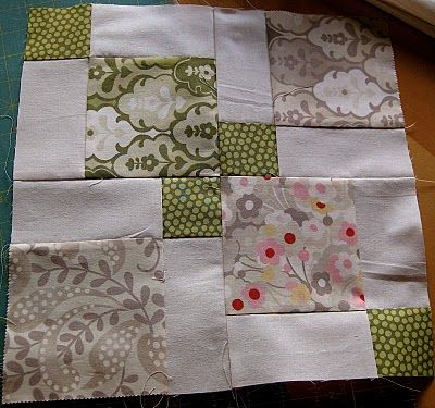 Disappearing nine patch block #patchwork #charm-packs