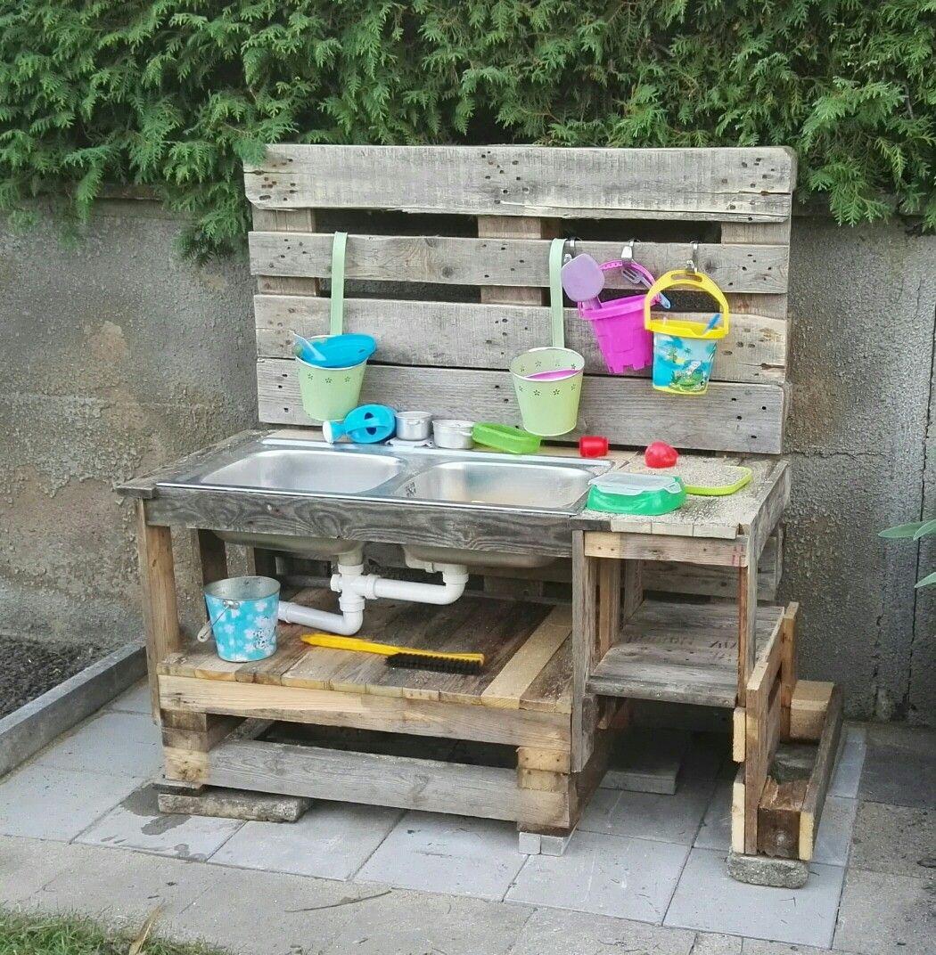 Kinder Outdoorkuche Kuche Aus Paletten Gartenmobel Aus Paletten Mobel Aus Paletten