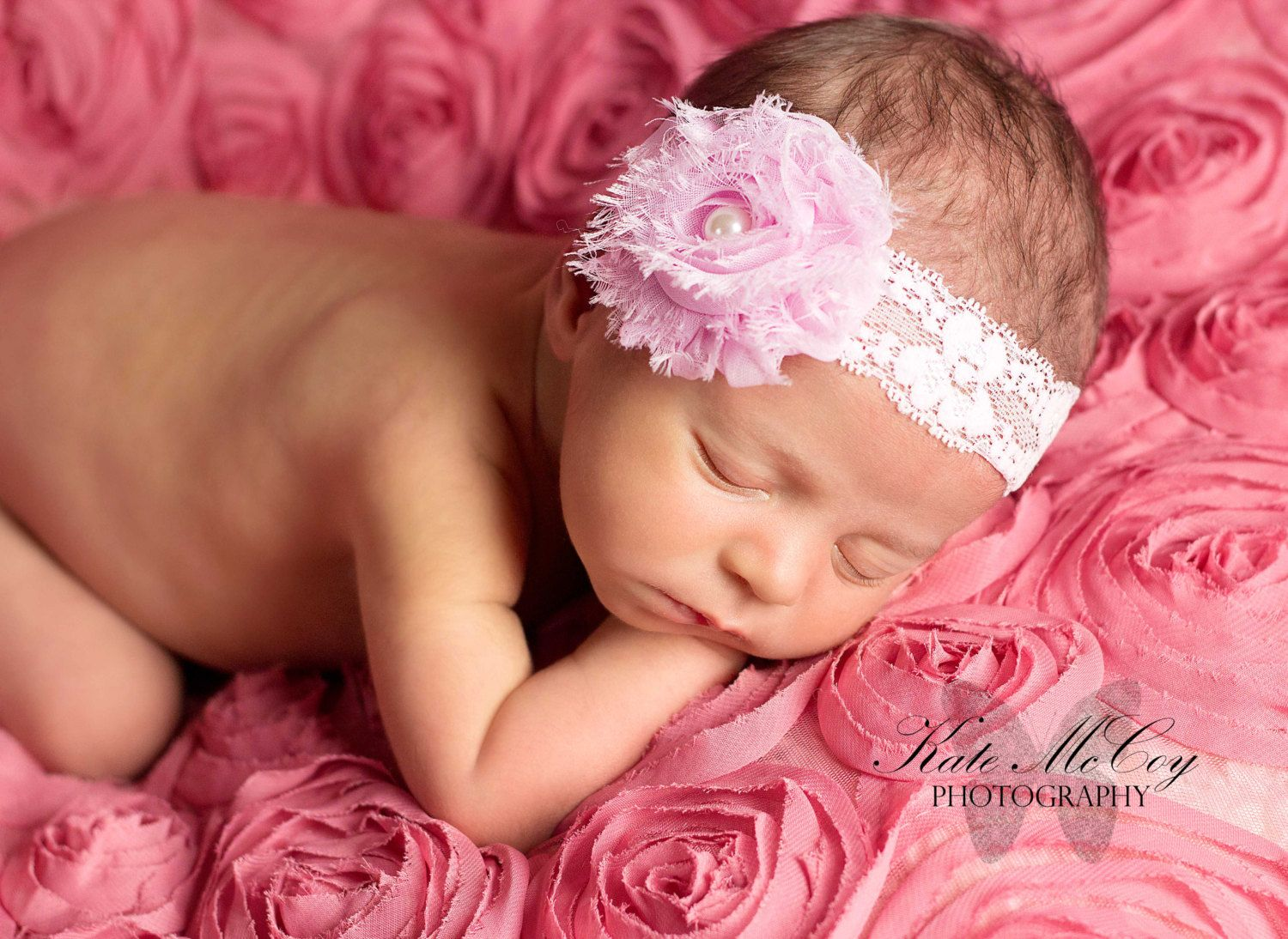 a187ffbeb1e0 Pink baby headband newborn headband infant by buttercupsbows