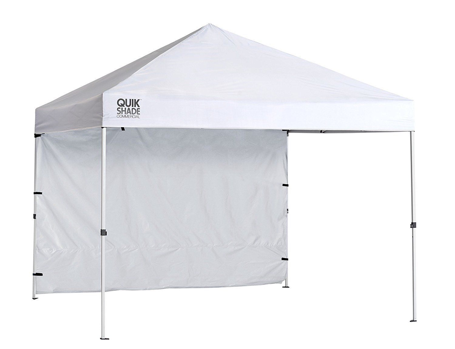 Amazon Com Quik Shade Commercial 10 X 10 Ft Straight Leg Canopy White Garden Outdoor Portable Canopy Camping Canopy Instant Canopy