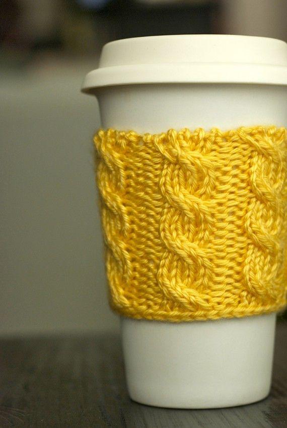 coffee koozie | Knit and Crochet projects | Pinterest | Vasos y Tejido