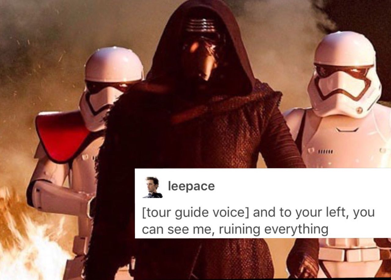 Funny Meme Text Posts : Newt newt text post meme for my emo garbage son kylo ren