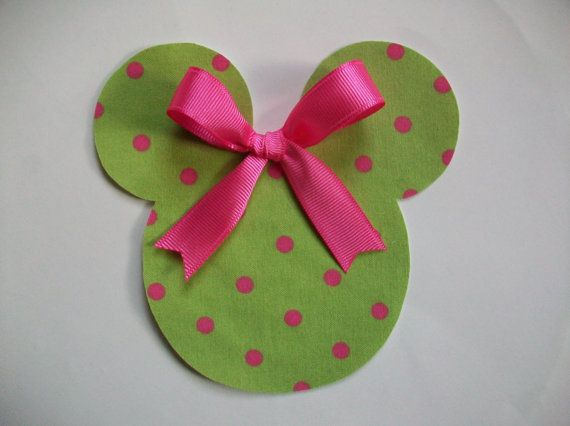 DIY No-Sew Minnie Mouse Applique - Iron On | Mäuse, Nähen und ...